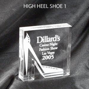High Heel Shoe Shaped Acrylic Award/Paperweight