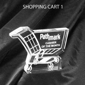 Shopping Cart Shaped Acrylic Award/Paperweight