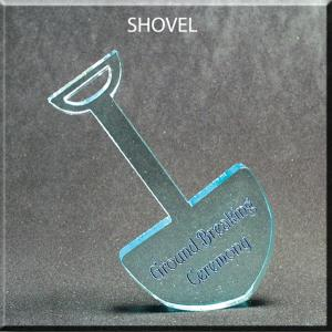 Shovel Shaped Acrylic Award/Paperweight