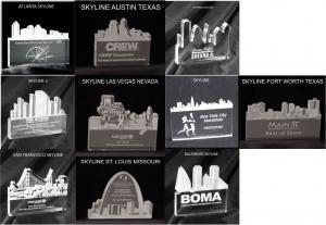 City Skylines Shaped Acrylic Award/Paperweight