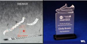 Sneaker Shaped Acrylic Award/Paperweight
