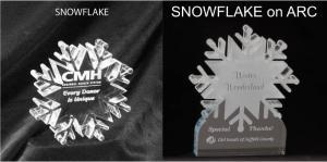 Snowflake Shaped Acrylic Award/Paperweight