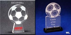 Soccer Ball Shaped Acrylic Award/Paperweight