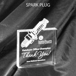 Spark Plug Shaped Acrylic Award/Paperweight