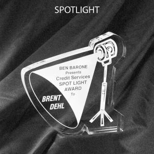 Spotlight Shaped Acrylic Award/Paperweight