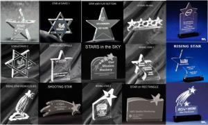 Star Shaped Acrylic Award/Paperweight