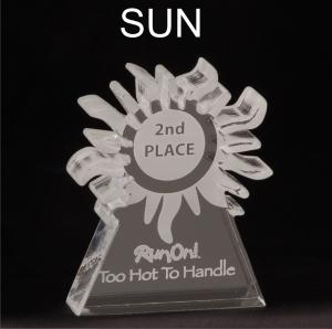 Sun Shaped Acrylic Award/Paperweight