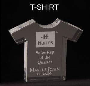 T-Shirt Shaped Acrylic Award/Paperweight