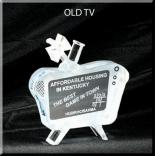 TV Shaped Acrylic Award/Paperweight