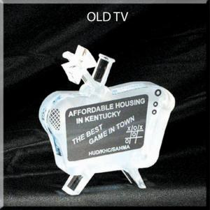 TV Shaped Acrylic Award/Paperweight