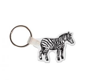 Zebra Soft Vinyl Keychain