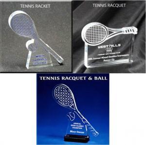 Tennis Racket Shaped Acrylic Award/Paperweight