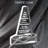Traffic Cone Shaped Acrylic Award/Paperweight