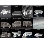 Truck Shaped Acrylic Award/Paperweight