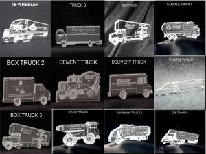 Truck Shaped Acrylic Award/Paperweight