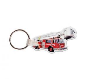 Fire Truck #2 Soft Vinyl Keychain