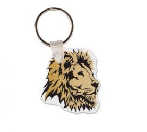 Lion Head Soft Vinyl Keychain