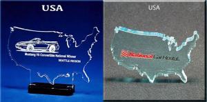 USA Shaped Acrylic Award/Paperweight