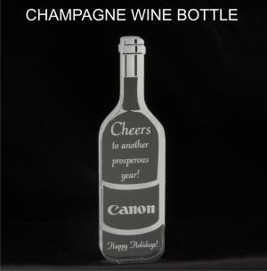 Wine/Champagne Bottle Shaped Acrylic Award/Paperweight