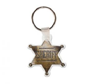 Sheriff's Badge Soft Vinyl Keychain