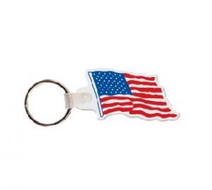 Flag Soft Vinyl Keychain