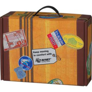Suitcase Travel-Themed Mailer Box