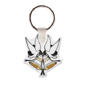 Bells with Doves Soft Vinyl Keychain