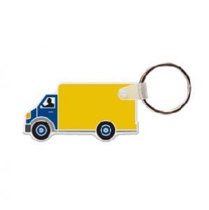 Box Truck #2 Soft Vinyl Keychain