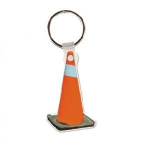 Construction Cone Soft Vinyl Keychain