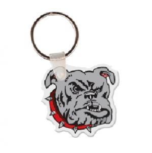 Bulldog Head Soft Vinyl Keychain
