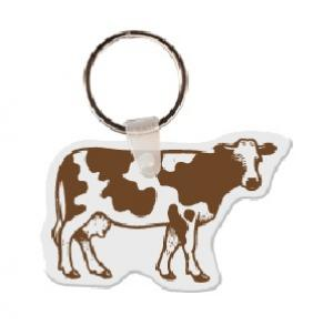 Cow Soft Vinyl Key Tag