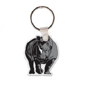 Rhinoceros Soft Vinyl Key Tag