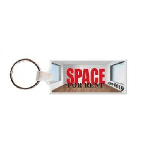 Rectangle with Tab Soft Vinyl Key Tag
