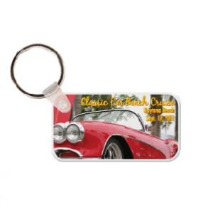 Rectangle with Rounded Corners #2 Soft Vinyl Keychain