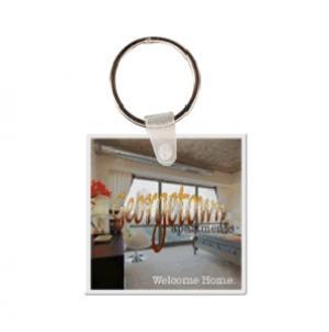 Square #2 Soft Vinyl Keychain