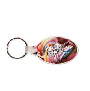 Oval with Tab Soft Vinyl Keychain