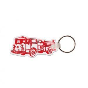 Fire Truck #3 Soft Vinyl Keychain