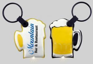 Beer Mug Shaped Key Tag Light