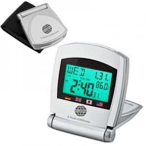 Travel Atomic Clock with Dual Time Display