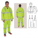 3-Piece Rainsuit with Reflective Stripes