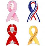 Awareness Ribbon Shaped Window Sign with Suction Cup