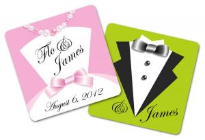 Wedding Paperboard Square Coaster