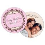 Wedding Paperboard Circle Coaster