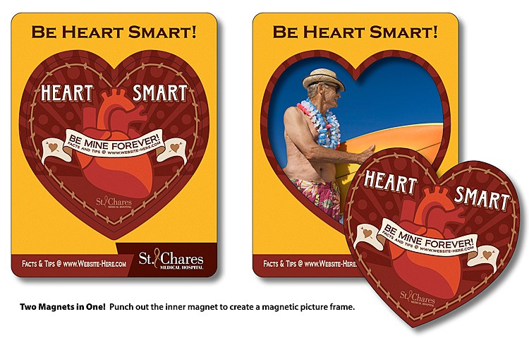 Heart Shaped Punch Picture Frame Magnet