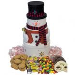 Tower of Treats Holiday Snowman