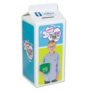 Fundraising Milk Carton Collection Bank