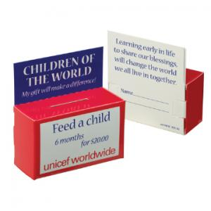 """3 1/2"""" x 1 1/2"""" x 2 1/4"""" Kid's Fundraising Collection Bank"""