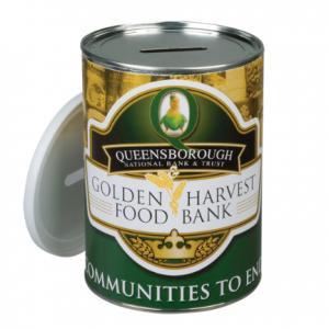 32 Oz. Fundraising Tin Can Bank
