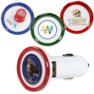 USB Car Charger with 4 Color Process Label