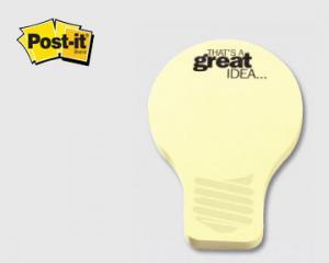 Light bulb shaped post it notes promotional gift aloadofball Choice Image